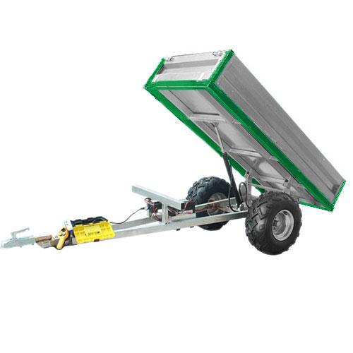 Remorque basculante hydraulique (capacité de chargement de 600 kg)