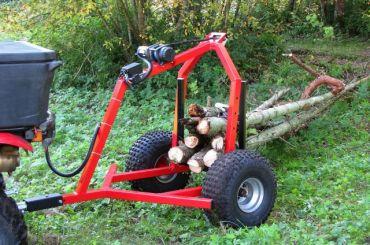 Remorque de débardage avec treuil électrique pour ATV