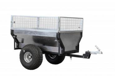 """Remorque pour ATV """"ECO 300"""" + extension barre de tirage + extension caisson grillagé"""