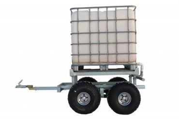 Remorque forestière pour quad + caisson d'eau (1000L)