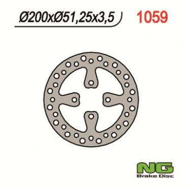 Disque de frein arrière pour YFZ450 06-08, YFM700 Raptor 06-08