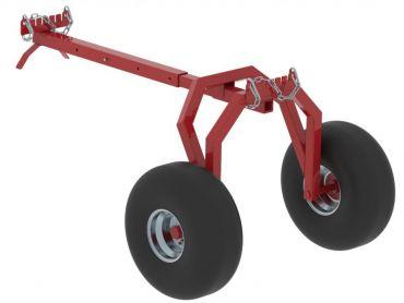 Remorque de débardage pour ATV avec support arrière
