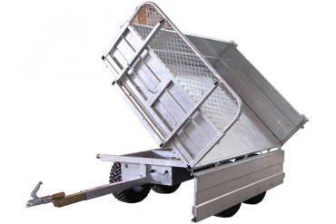 Remorque à bascule - Capacité de 1500 kg avec option d'inclinaison à 3 voies