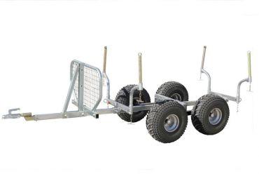 Remorque forestière pour quad - Capacité de 1000 kg