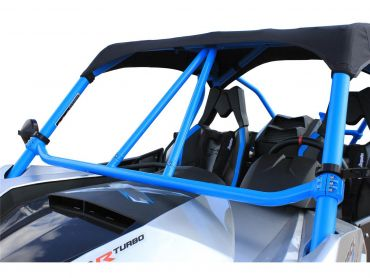 "DRAGONFIRE Race ""Flying V"" Front Bar Bleu Can-Am Maverick"