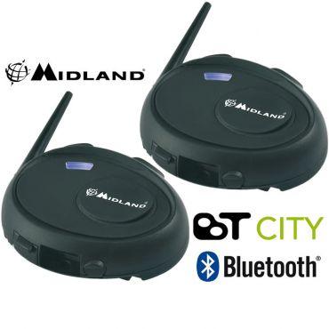 Kit double Bluetooth intercom Midland BT CITY
