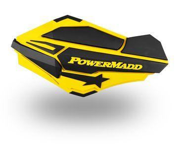 Protège-mains POWERMADD jaune/bleu SUZUKI