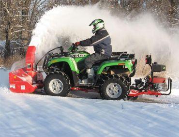 Souffleuse à neige pour quad / VTT avec moteur 19 CV Briggs & Stratton