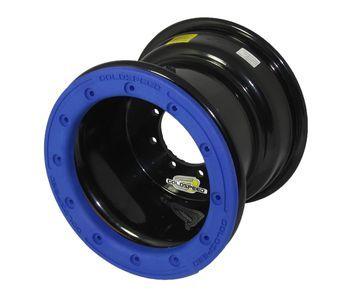 GS: 9X6 4/110/115 2B+4N 2X BL 2X BEADLOCK noir – anneaux bleus RP