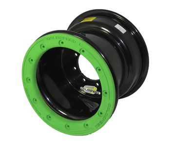GS: 9X6 4/110/115 2B+4N 2X BL 2X BEADLOCK noir – anneaux verts RP