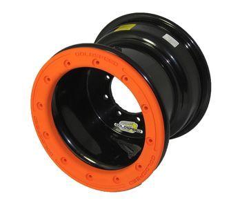 GS: 9X6 4/110/115 2B+4N 2X BL 2X BEADLOCK noir – anneaux orange RP