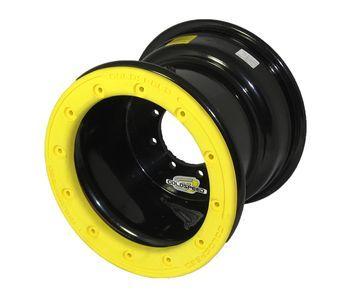 GS: 9X6 4/110/115 2B+4N 2X BL 2X BEADLOCK noir – anneaux jaunes RP