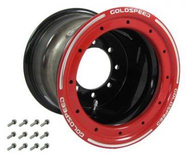 GS: 9X6 4/110/115 2B+4N 2X BL 2X BEADLOCK noir – anneaux rouges