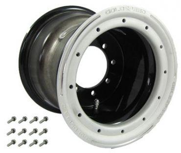 GS: 9X6 4/110/115 2B+4N 2X BL 2X BEADLOCK noir – anneaux noirs