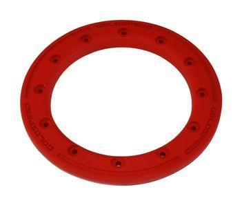GS:BEAD-LOCK Anneau 8-pouces rouge carbone polymère + boulons